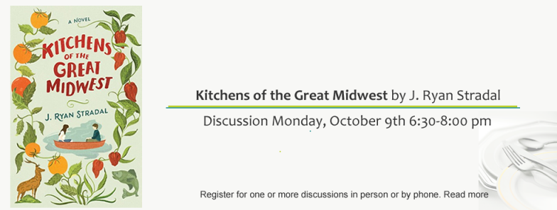"Fall Book Discussion Series ""For Foodies"" Monday, October 9th 6:30-8:00 pm"