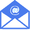 email icon blue footer